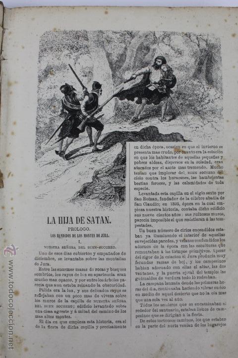 Libros antiguos: L-1527. LA HIJA DE SATAN. CUADRO HISTÓRICO DEL REINADO ENRIQUE IV FRANCIA. CLEMENCIA ROBERT. 1861 - Foto 3 - 49303383