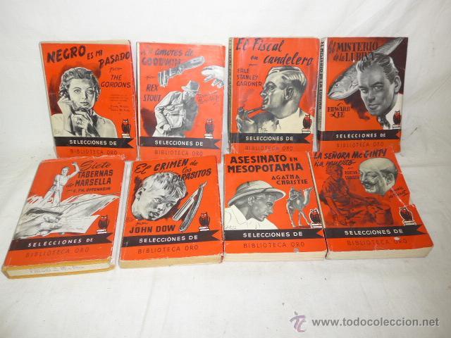 LOTE DE 8 NOVELA DE INTRIGA O POLICIACA ANTIGUAS, DE AÑOS 50 (Libros antiguos (hasta 1936), raros y curiosos - Literatura - Terror, Misterio y Policíaco)