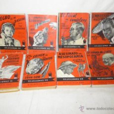 Libros antiguos: LOTE DE 8 NOVELA DE INTRIGA O POLICIACA ANTIGUAS, DE AÑOS 50. Lote 49643596