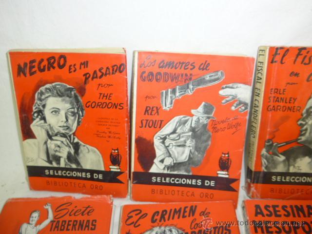 Libros antiguos: Lote de 8 novela de intriga o policiaca antiguas, de años 50 - Foto 2 - 49643596