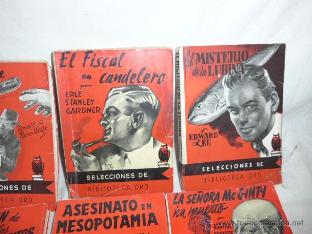 Libros antiguos: Lote de 8 novela de intriga o policiaca antiguas, de años 50 - Foto 3 - 49643596