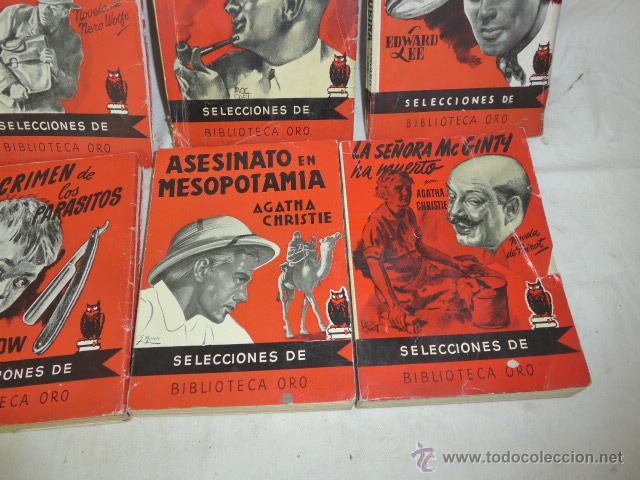 Libros antiguos: Lote de 8 novela de intriga o policiaca antiguas, de años 50 - Foto 4 - 49643596
