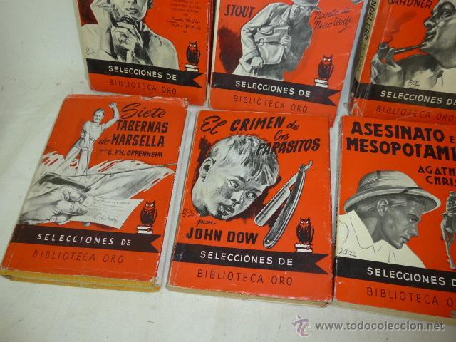 Libros antiguos: Lote de 8 novela de intriga o policiaca antiguas, de años 50 - Foto 5 - 49643596