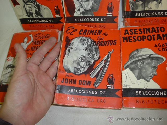 Libros antiguos: Lote de 8 novela de intriga o policiaca antiguas, de años 50 - Foto 6 - 49643596