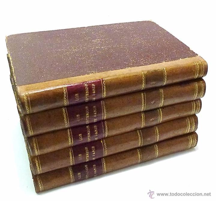 Libros antiguos: SUE, EUGENIO- LOS MISTERIOS DE PARIS (5 VOLUMENES) - AÑO 1.844 - Foto 2 - 217376318