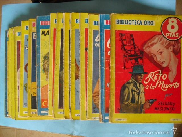 BIBLIOTECA ORO,15 NOVELAS EDITORIAL MOLINO AÑOS 30 40 Y 50, (Libros antiguos (hasta 1936), raros y curiosos - Literatura - Terror, Misterio y Policíaco)