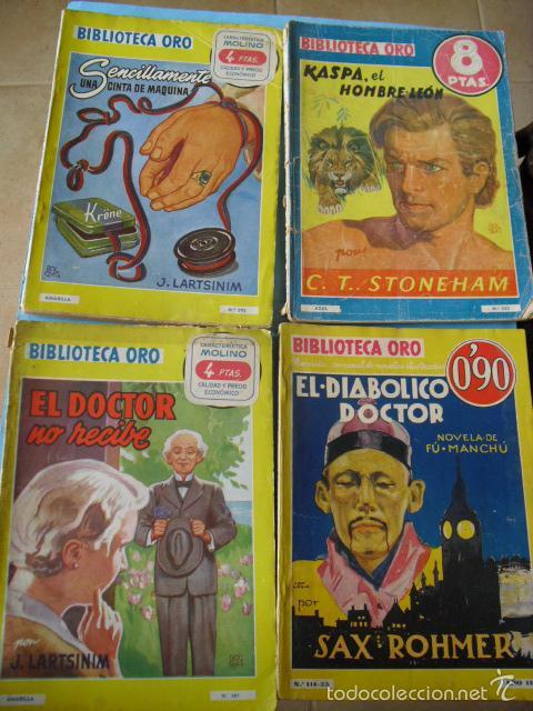 Libros antiguos: biblioteca oro,15 novelas editorial molino años 30 40 y 50, - Foto 4 - 56292153