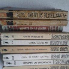 Libros antiguos: LOTE 9 NOVELAS AGATHA CHRISTIE BIBLIOTECA DE ORO EDITORIAL MOLINO. Lote 56317249