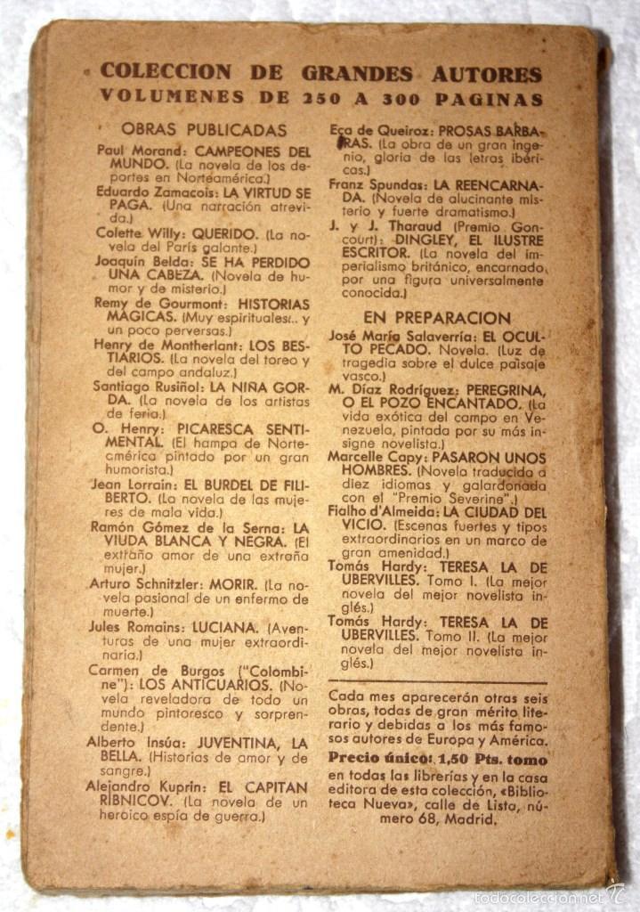 Libros antiguos: LA REENCARNADA. FRANZ SPUNDAS. COLECCIÓN DE GRANDES AUTORES. BIBLIOTECA NUEVA. - Foto 3 - 57120280