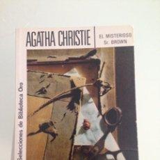 Libros antiguos: LIBRO, EL MISTERIOSO SR. BROWN, 153 AGATHA CHRISTIE, EDITORIAL MOLINO. Lote 58189833