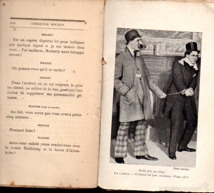 Libros antiguos: DECOURCELLE / CONAN DOYLE / GILLETTE : SHERLOCK HOLMES (LAFITTE, 1910) EN FRANCÉS - Foto 2 - 58498377