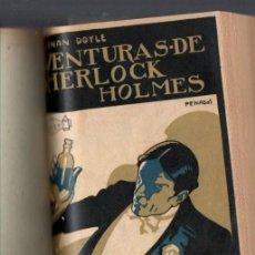 Libros antiguos: ARTURO CONAN DOYLE : AVENTURAS DE SHERLOCK HOLMES (PROMETEO, C. 1920) VARIOS LIBROS EN UN VOLUMEN. Lote 67915569