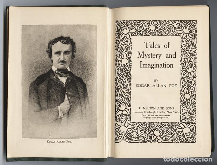 Libros antiguos: Edgar Allan Poe. Tales of Mystery and Imagination. T. Nelson & Sons. - Foto 1 - 68177201