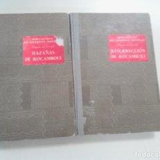 Libros antiguos: LOTE 2 NOVELAS HAZAÑAS DE ROCAMBOLE/RESURRECION DE ROCAMBOLE-PONSON DU TERRAIL-ED. RAMON SOPENA-1935. Lote 75705935