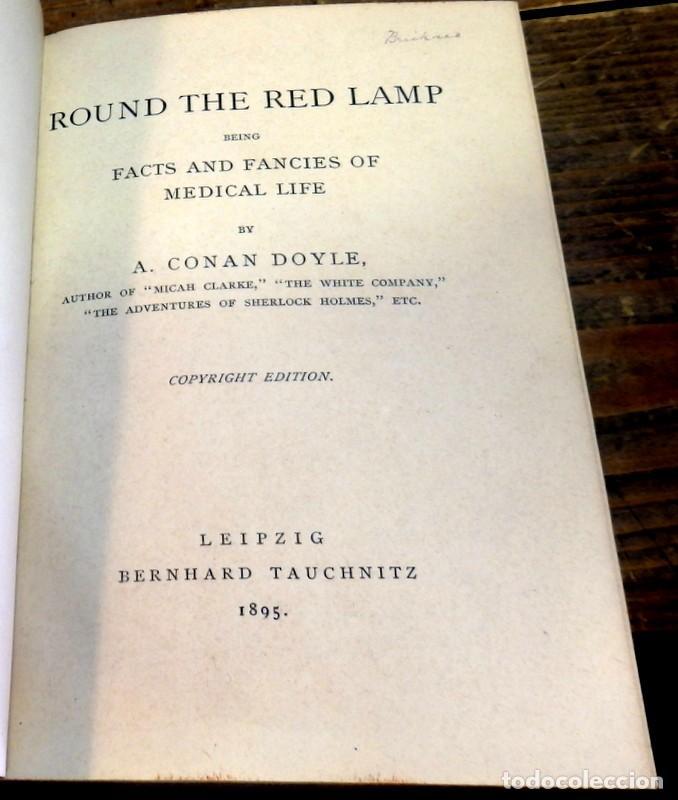 ROUND THE LAMP, ARTHUR CONAN DOYLE,1895,286 PAGINAS, EN INGLES (Libros antiguos (hasta 1936), raros y curiosos - Literatura - Terror, Misterio y Policíaco)