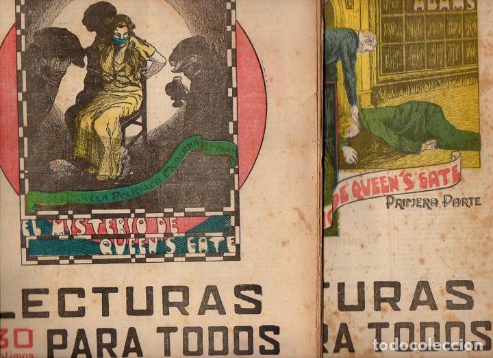 HERBERT ADAMS : EL MISTERIO DE QUEEN'S GATE - 2 VOLS.(LECTURAS PARA TODOS, 1935) (Libros antiguos (hasta 1936), raros y curiosos - Literatura - Terror, Misterio y Policíaco)