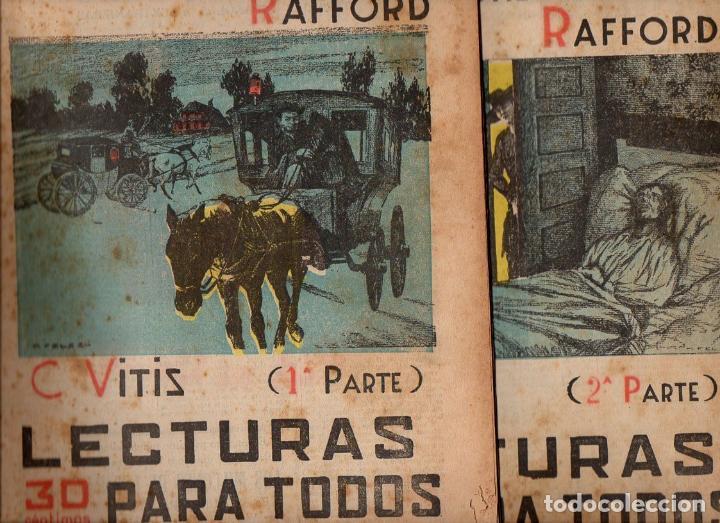 VITIS : LOS MILLONES DE LOS RAFFORD - 2 VOLS.(LECTURAS PARA TODOS, 1934) (Libros antiguos (hasta 1936), raros y curiosos - Literatura - Terror, Misterio y Policíaco)