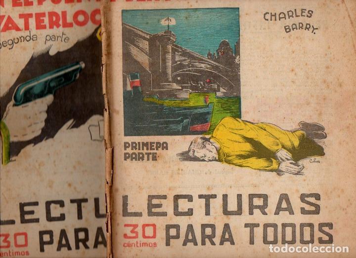 CHARLES BARRY : EL CADÁVER EN EL PUENTE WATERLOO - 2 VOLS.(LECTURAS PARA TODOS, 1935) (Libros antiguos (hasta 1936), raros y curiosos - Literatura - Terror, Misterio y Policíaco)
