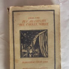 Libros antiguos: ELS ASSASSINATS DEL CARRER MORGUE. EDGAR A. POE. ED. EDITORIAL CATALANA. 1910/20. Lote 84809132
