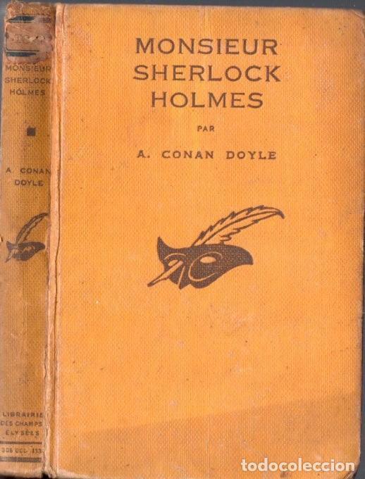 CONAN DOYLE : MONSIEUR SHERLOCK HOLMES - UNE ÉTUDE EN ROUGE (LE MASQUE, PARIS, 1933) (Libros antiguos (hasta 1936), raros y curiosos - Literatura - Terror, Misterio y Policíaco)