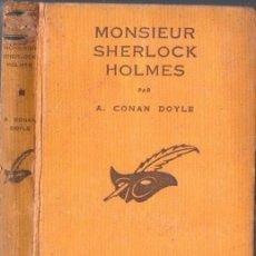Libros antiguos: CONAN DOYLE : MONSIEUR SHERLOCK HOLMES - UNE ÉTUDE EN ROUGE (LE MASQUE, PARIS, 1933). Lote 85080784
