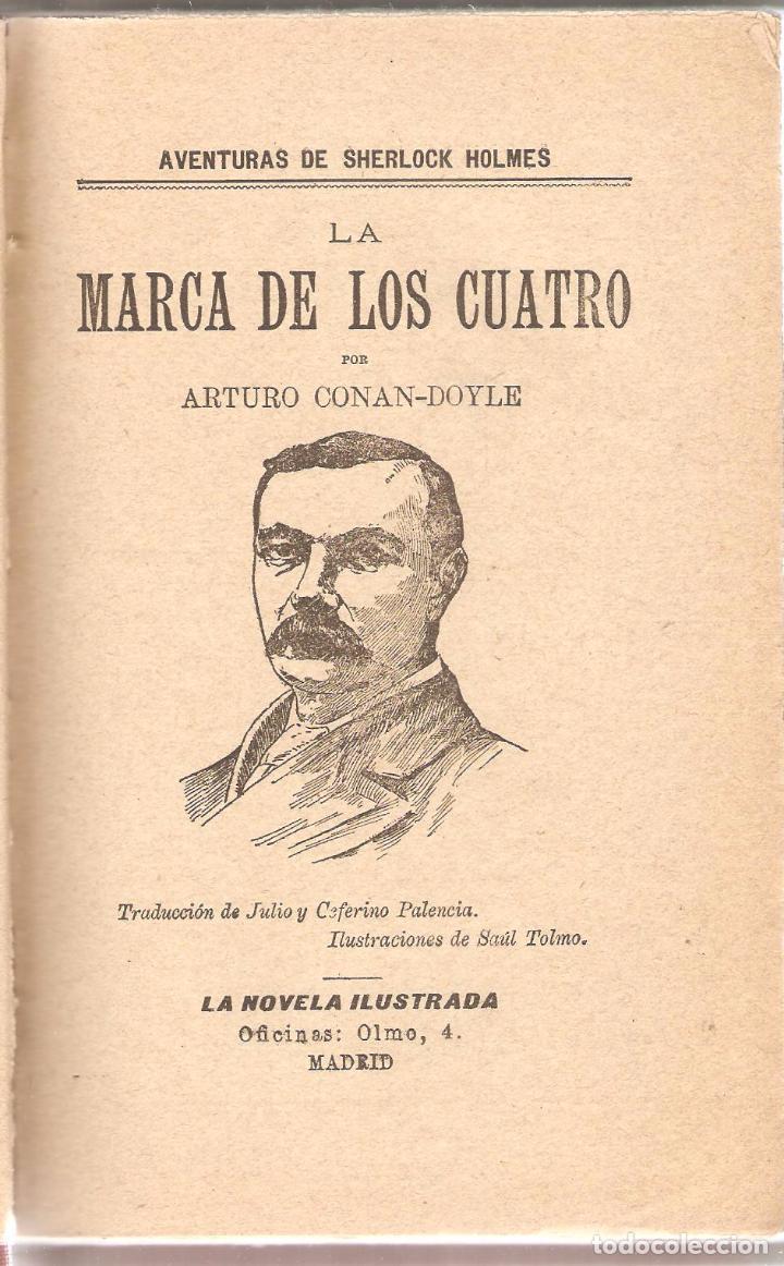 Libros antiguos: CONAN DOYLE : La marca de los cuatro. El pulgar del ingeniero. Madrid, fines XIX - Foto 2 - 55959605
