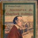 Libros antiguos: A. CONAN DOYLE : AVENTURAS DE SHERLOCK HOLMES - TRIUNFOS DE SHERLOCK HOLMES (1907). Lote 92768080