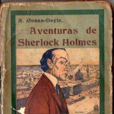 Libros antiguos: A. CONAN DOYLE : AVENTURAS DE SHERLOCK HOLMES - NUEVOS TRIUNFOS DE SHERLOCK HOLMES (S.F.). Lote 92768205