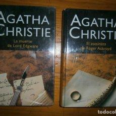 Libros antiguos: AGATHA CHRISTIE..LA MUERTE DE LORD EDGWARE ..Y EL ASESINATO DE ROGER ACKROYD. Lote 95084191