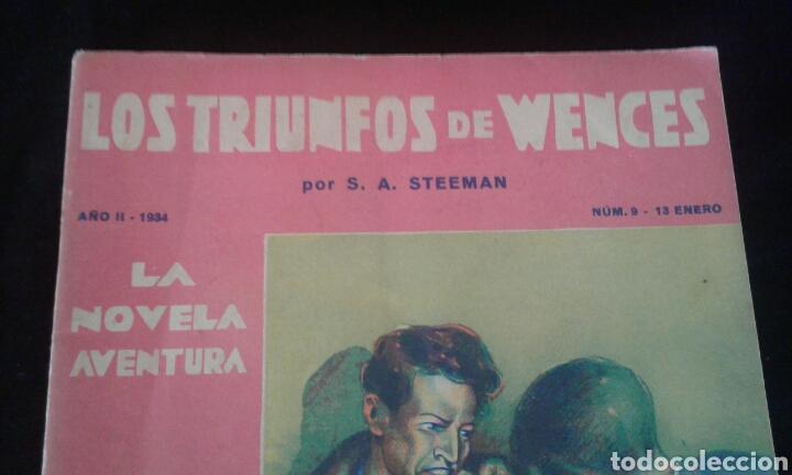 Libros antiguos: Los triunfos de Wences. S.A. Steeman. La novela aventura, 9. 1934 - Foto 2 - 95086722