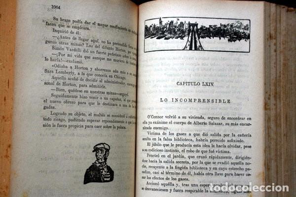 Libros antiguos: LOS BANDIDOS DE CHICAGO - JAMES SHERIDAN - 1933 - ILUSTRADO - Más de 3000 páginas - RARO - Foto 4 - 95690755