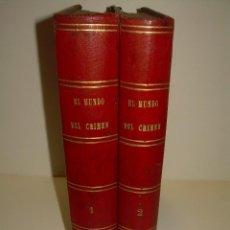 Libros antiguos: DOS TOMOS. OBRA COMPLETA.....EL MUNDO DEL CRIMEN....ILIUSTRADA CON INFINIDAD DE GRABADOS...AÑO 1.888. Lote 95695191