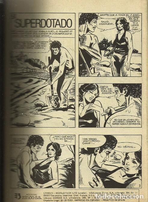 Libros antiguos: Comic .Crimen y sucesos - Foto 2 - 98190263
