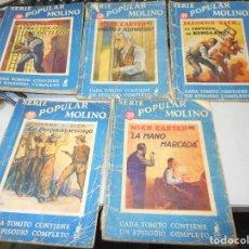 Libros antiguos: 5 TOMITOS SERIE POPULAR MOLINO PRIMERA EDICION 1935. Lote 100369839