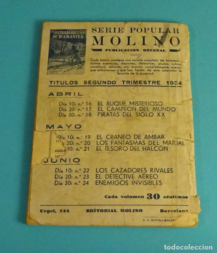 Libros antiguos: PIRATAS DEL SIGLO XX. TRADUCCIÓN DE G. BERNARD DE FERRER. SERIE POPULAR MOLINO Nº 18 - Foto 2 - 100755559
