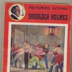 Libros antiguos: MEMORIAS INTIMAS DE SHERLOCK HOLMES. EN LA ESCUELA DEL CRIMEN DE PITTSBURG. 192?. DIFICIL.... Lote 125028075