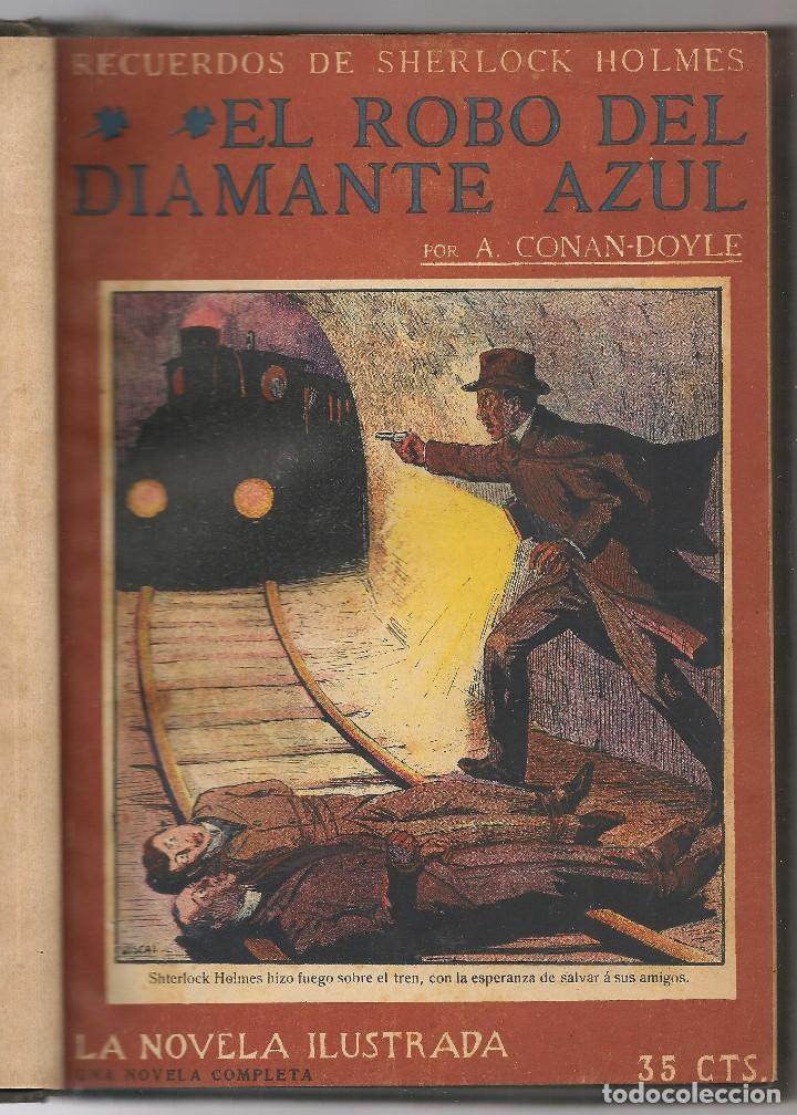 CONAN DOYLE,ARTHUR ,RECUERDOS DE SHERLOCK HOLMES, EL ROBO DEL DIAMANTE AZUL, EL CRIMEN , 12 OBRAS (Libros antiguos (hasta 1936), raros y curiosos - Literatura - Terror, Misterio y Policíaco)