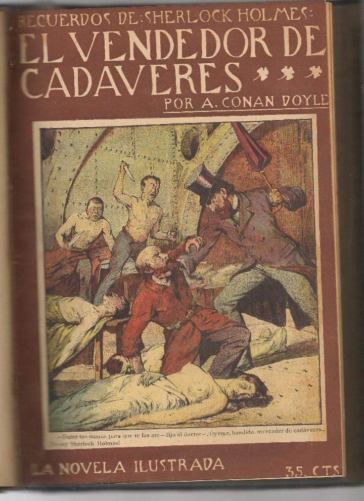 Libros antiguos: CONAN DOYLE,Arthur ,recuerdos de Sherlock Holmes, EL ROBO DEL DIAMANTE AZUL, EL CRIMEN , 12 obras - Foto 5 - 104385155