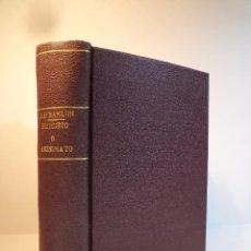 Libros antiguos: UN VOLUMEN CON 5 TÍTULOS: SUICIDIO O ASESINATO. O´HANLON, JAMES. EL MUERTO CAIDO DEL CIELO. SIMENON,. Lote 105763099