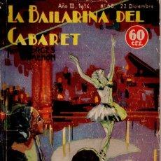Libros antiguos: SIMENON : LA BAILARINA DEL CABARET (NOVELA AVENTURA, 1934). Lote 107440279