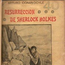 Libros antiguos: LA RESURRECCIÓN DE SHERLOCK HOLMES / ARTHUR CONAN-DOYLE. Lote 116058854