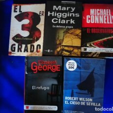 Libros antiguos: LOTE 5 LIBROS MISTERIO -JAMES PATTERSON, MARY HIGGINS CLARK...-. Lote 111637783