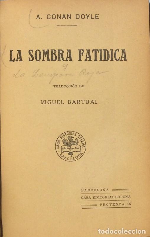 Libros antiguos: La sombra fatídica/La lámpara roja - Arthur Conan Doyle - Foto 3 - 114173838