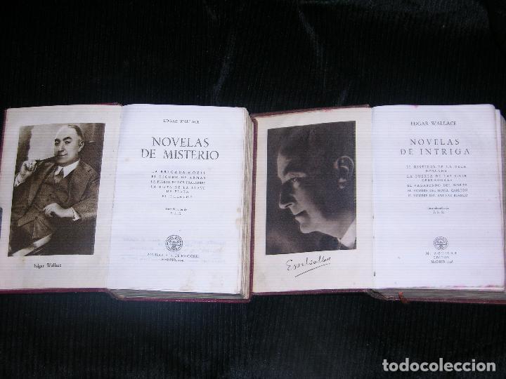 Libros antiguos: F1 -2 TOMOS DE NOVELAS DE INTRIGA Y NOVELAS DE MISTERIO POR EDGAR WALLACE - Foto 2 - 114807671