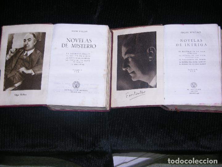 Libros antiguos: F1 -2 TOMOS DE NOVELAS DE INTRIGA Y NOVELAS DE MISTERIO POR EDGAR WALLACE - Foto 3 - 114807671
