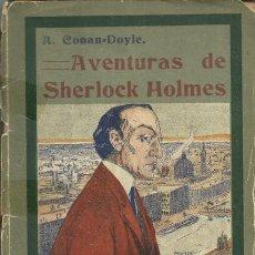 Libros antiguos: AVENTURAS DE SHERLOCK HOLMES, DE A. CONAN DOYLE, MADRID 1909.PRIMERA EDICIÓN. Lote 115132935