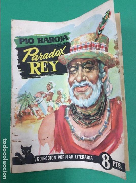 PARADOX REY - PIO BAROJA - COLECCION POPULAR LITERARIA (Libros antiguos (hasta 1936), raros y curiosos - Literatura - Terror, Misterio y Policíaco)