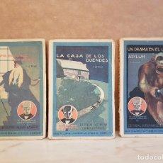 Libros antiguos: 3 NOVELAS CALLEJA-G.LE ROUGE 1922 COLECCION ENIGMA,VER FOTOS DETALLADAS Y ESTADO. Lote 120079107