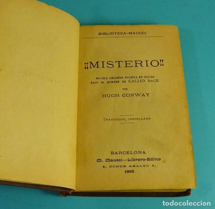 Libros antiguos: ¡ MISTERIO !. HUGH CONWAY (PSEUDÓNIMO CALLED BACK). M. MAUCCI - LIBRERO EDITOR. 1895 - Foto 2 - 120455779