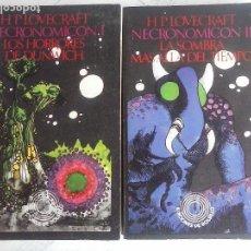 Libros antiguos: H.P.LOVECRAFT - NECRONOMICON 1 Y 2, LOS HORRORES DE DUNWICH - LA SOMBRA MAS ALLÁ DEL TIEMPO. Lote 121346891